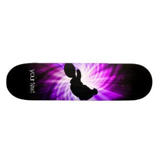 Cool Purple Dirt Bike Custom Skate Board