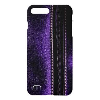 Cool Purple Faux Leather Zipper iPhone 7 Case