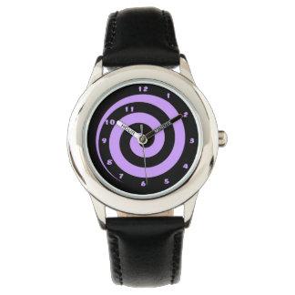 Cool Purple Hypnotic Spiral  Wrist Watch
