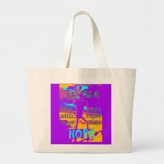 Cool Purple USA Hillary Hope We Are Stronger Toget Large Tote Bag
