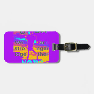 Cool Purple USA Hillary Hope We Are Stronger Toget Luggage Tag