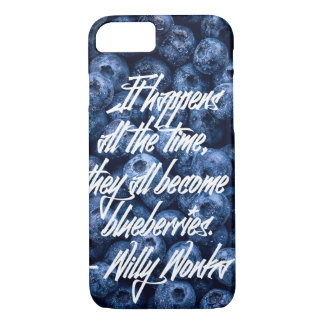 Cool quotes with blueberries background iPhone 8/7 case