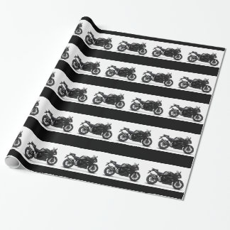 COOL RACING SPORTS BLACK MOTORCYCLE 297090  motorb Wrapping Paper