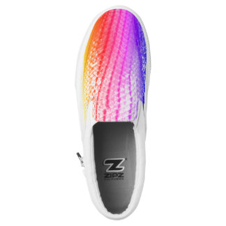 Cool Rainbow Fish Scales Snake Pattern 4Hilsey Slip-On Sneakers
