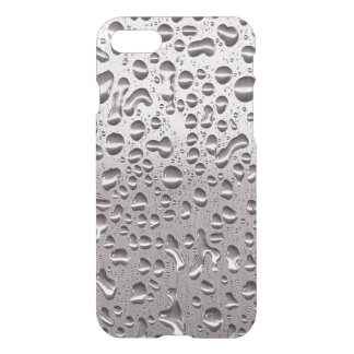 Cool Raindrops on Metal Stainless Steel Pattern iPhone 7 Case