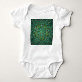 Cool Rainforest Green Print Baby Bodysuit