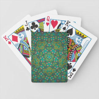 Cool Rainforest Green Print Bicycle Playing Cards