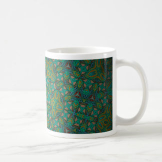 Cool Rainforest Green Print Coffee Mug