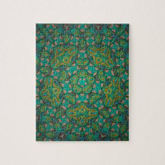 Cool Rainforest Green Print Jigsaw Puzzle