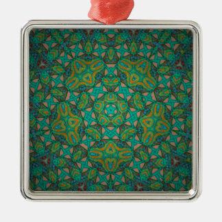 Cool Rainforest Green Print Metal Ornament