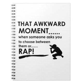 Cool Rap  designs Note Book