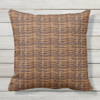 Cool Rattan Print Throw Pillow