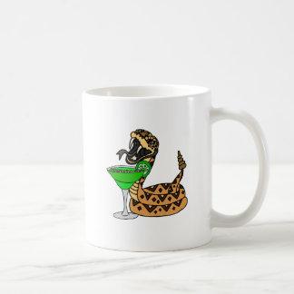 Cool Rattlesnake Drinking Margarita Art Coffee Mug