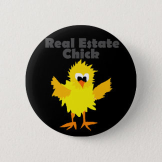 Cool Real Estate Chick Art 2 Inch Round Button