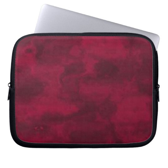 Cool red abstract marble texture background laptop sleeve