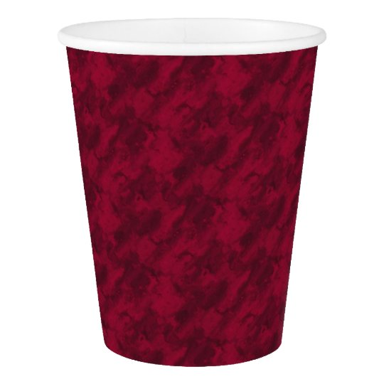 Cool red abstract marble texture background paper cup