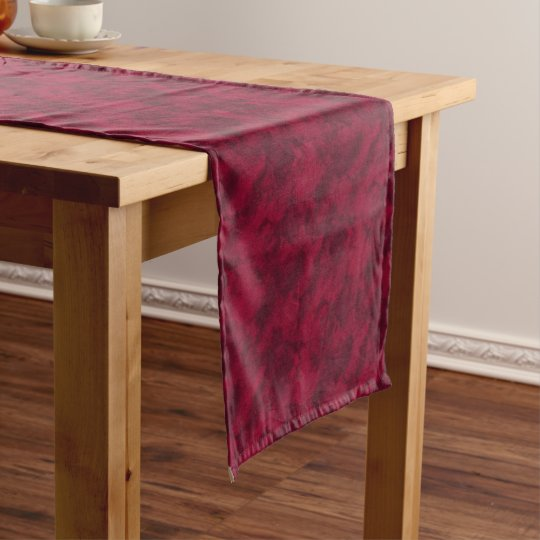 Cool red abstract marble texture background short table runner