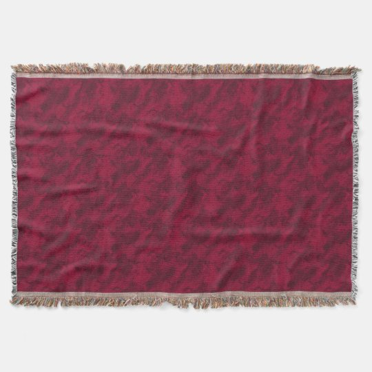 Cool red abstract marble texture background throw blanket