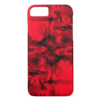 Cool Red and Black Abstract Design iPhone 7 Case