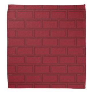 Cool Red Cartoon Bricks Wall Pattern Bandana