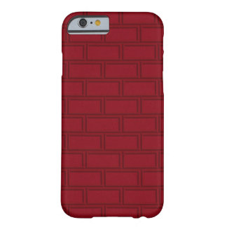 Cool Red Cartoon Bricks Wall Pattern Barely There iPhone 6 Case