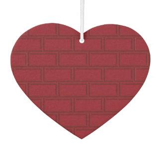 Cool Red Cartoon Bricks Wall Pattern Car Air Freshener