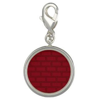 Cool Red Cartoon Bricks Wall Pattern Charm