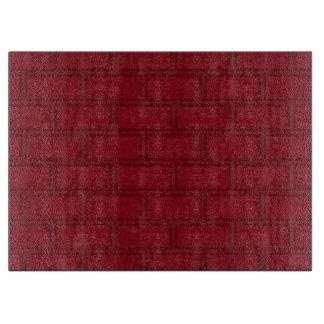 Cool Red Cartoon Bricks Wall Pattern Cutting Board