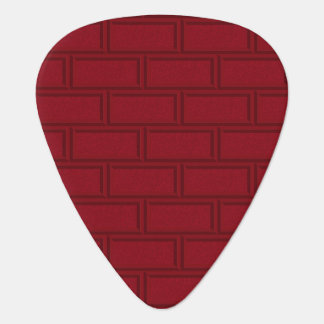 Cool Red Cartoon Bricks Wall Pattern Guitar Pick