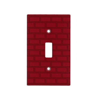 Cool Red Cartoon Bricks Wall Pattern Light Switch Cover