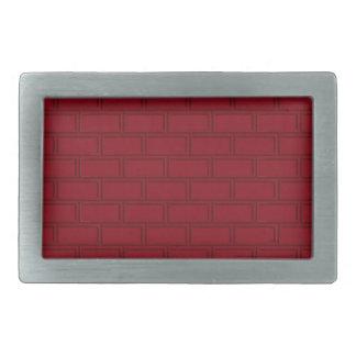 Cool Red Cartoon Bricks Wall Pattern Rectangular Belt Buckles