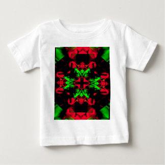 Cool Red Green Seasonal Christmas  Novel Pattern Baby T-Shirt