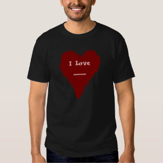 Cool red heart men's or ladies t shirt