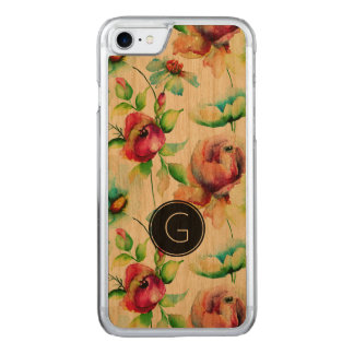 Cool Red Roses Waterloos Illustration Carved iPhone 8/7 Case