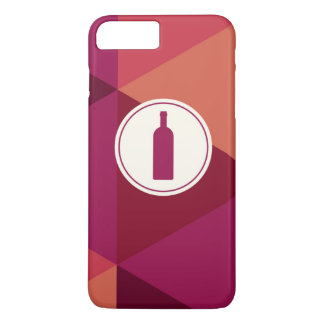 Cool Red Wine Geometric Pattern iPhone 7 Plus Case