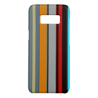 Cool Red Yellow Blue Silver Multicolor Stripes Case-Mate Samsung Galaxy S8 Case