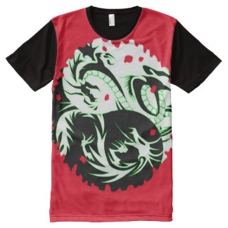 Cool Red Yin Yang Dragon symbol Custom