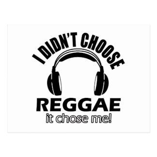 Cool reggae designs postcard