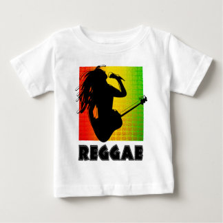 Cool Reggae Rasta Music Guitar Playing Rastaman Baby T-Shirt