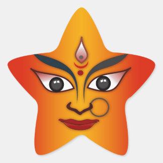 Cool religion face Indian mask goddess Star Sticker