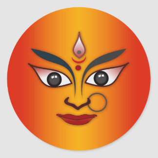 Cool religion face Indian mask goddess Sticker