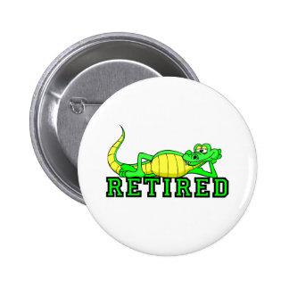 Cool retirement gator 2 inch round button