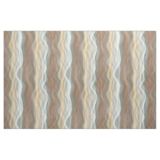 Cool Retro Abstract Artistic Waves Pattern Fabric
