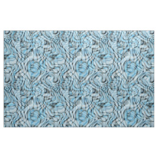 Cool Retro Artistic Abstract Waves Pattern Fabric