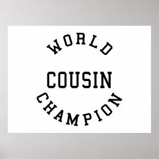 Cool Retro Cousins World Champion Cousin Poster