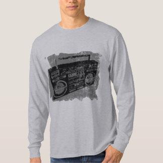 Cool Retro Distressed Boombox T-Shirt