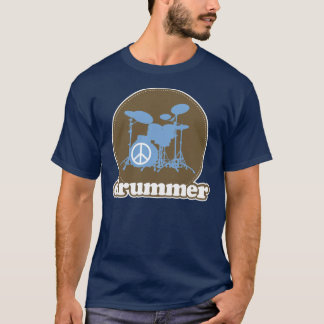 Cool Retro Drummer Percussion Tee Gift