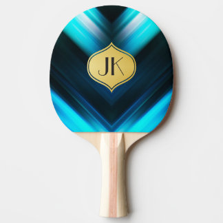 Cool, Retro & Edgy Reflections No. 1 Ping Pong Paddle