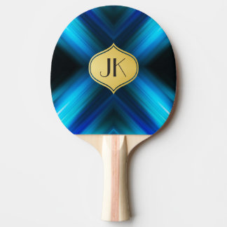 Cool, Retro & Edgy Reflections No. 3 Ping Pong Paddle