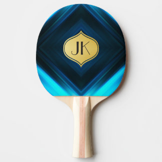 Cool, Retro & Edgy Reflections No. 4 Ping Pong Paddle